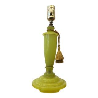 Mid-Century Modern Green Alabaster Lamp