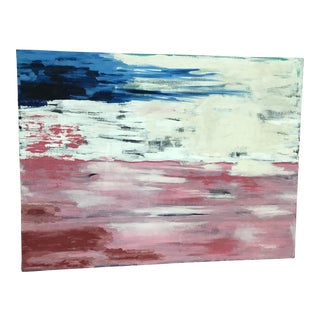 Original Vintage Abstract Oil on Canvas Painting