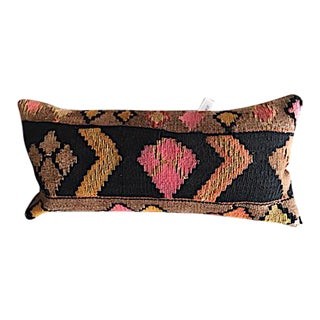 Turkish Kilim Rug Upholstered Pillow