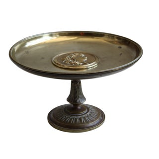 Bronze Tazza with Embossed Center