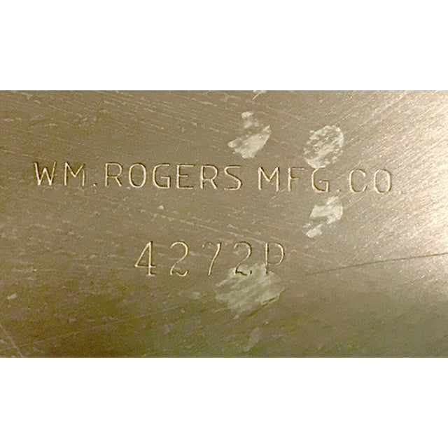 Image of W.M. Rogers Silverplate Trays #162 & 4272p - Pair
