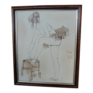 Bernard Dufour Study Painting Ballerina