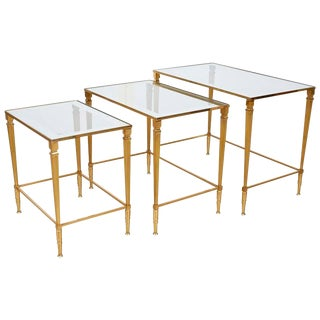 1950 Italian Brass Nesting Table - Set of3