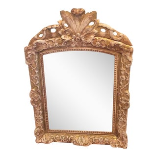 Antique French Giltwood and Gesso Mirror
