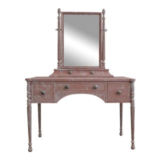 Cottage Pink Painted Vanity Table