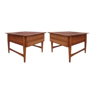 Lane Mid-Century Nightstands or Side Tables -- A Pair