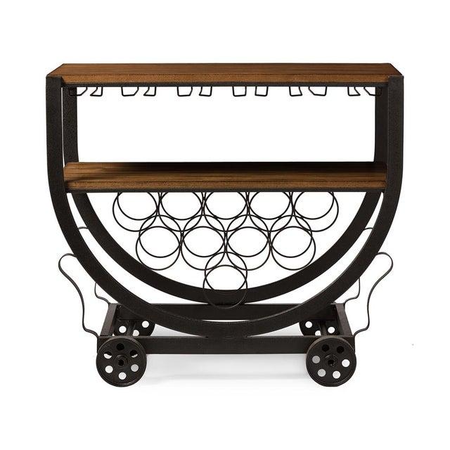 Industrial Wine Cart - Image 2 of 3