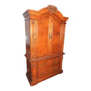 Luxury Cherry Tv Armoire & Dresser Set