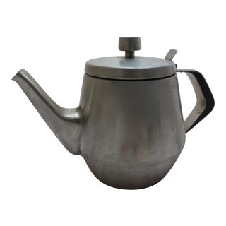 Swedish Mid-Century Stainless Steel Tea Pot