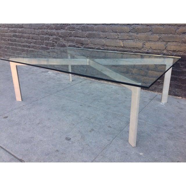 Mid Century Modern Barcelona Style Coffee Table Chairish