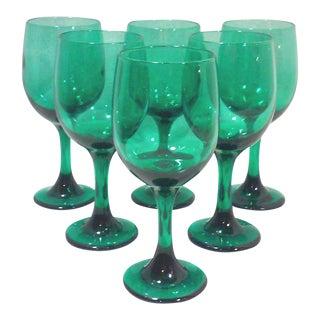 Green Wine Glasses - Set of 6
