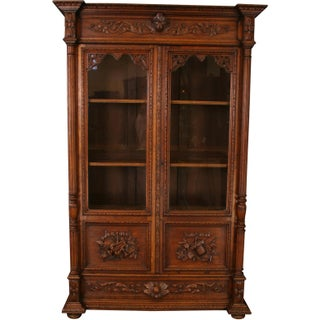 1900s French Renaissance Carved Bookcase