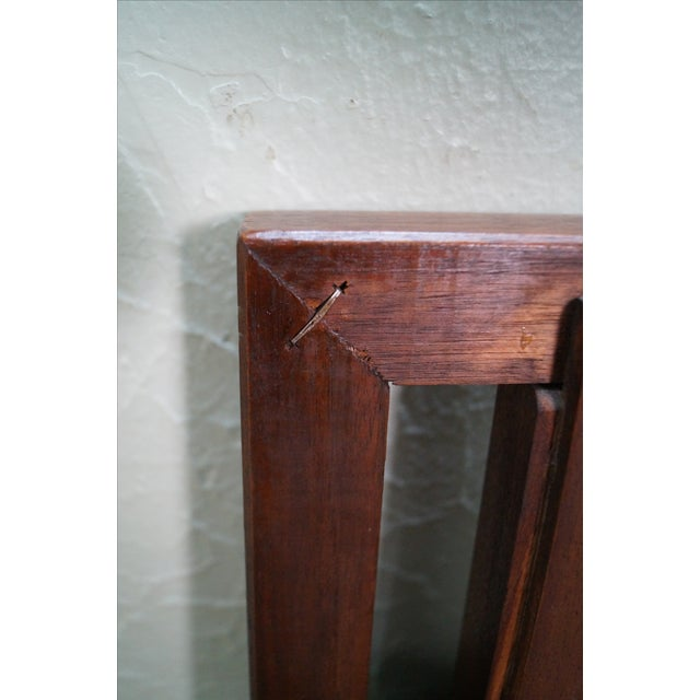 Mid Century Modern Walnut King Size Headboard - Image 10 of 10