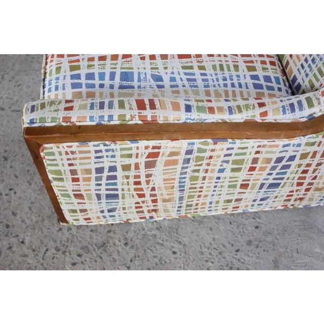 Mid-Century American Modern Lounge Chair with Walnut Border - Image 6 of 9
