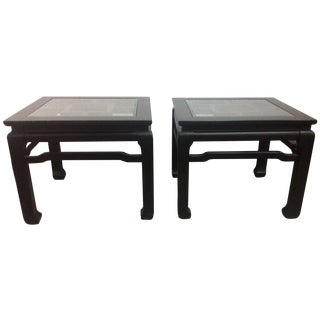 Black Asian Style End Tables