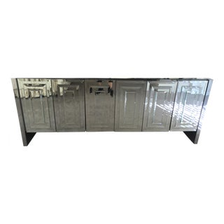 Vintage Ello Six Door Mirrored Credenza