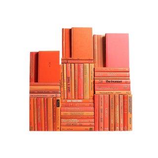 Modern Orange Book Wall, S/50