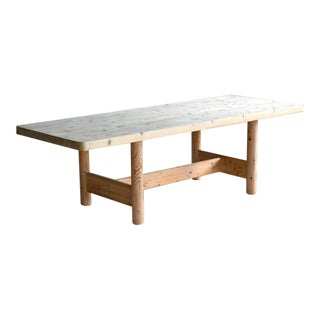 Large Farm Dining Table in Pine, Danish, Midcentury