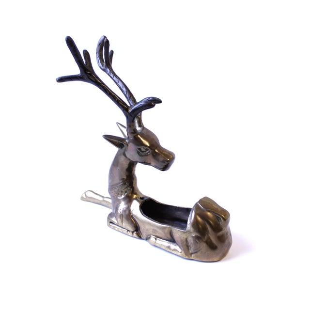 Vintage Brass Reindeer Planter Vase - Image 3 of 3