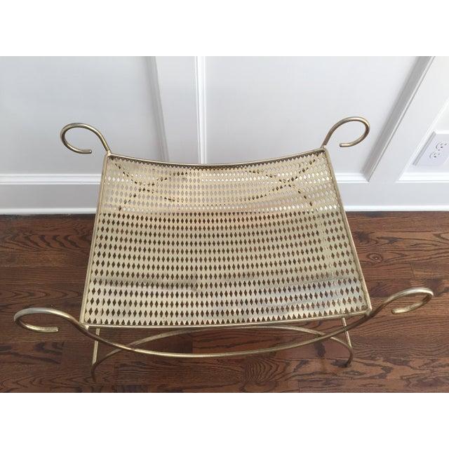 Image of Vintage Brass Vanity Stool