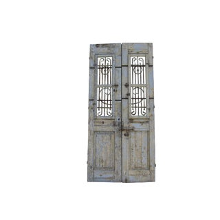 Antique Rustic Mediterranean Doors - A Pair