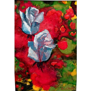 Abstract Giclee Print With Roses