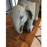 Image of Vintage Elephant Garden Stool or Side Table