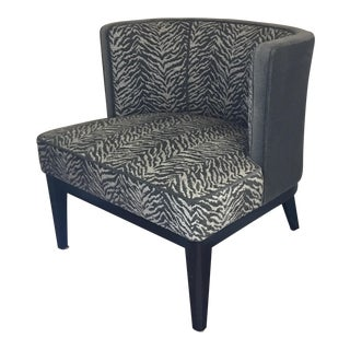 Crate & Barrel Zebra Grayson Chair