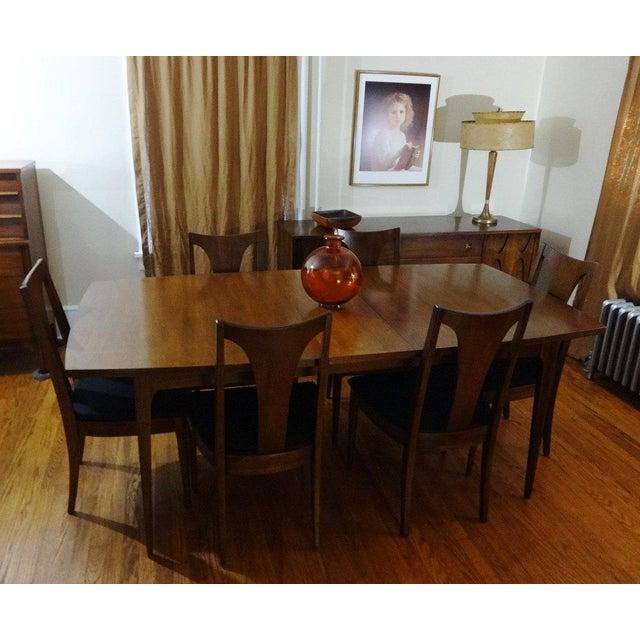 Mid Century Modern Broyhill Brasilia Sculpted Walnut Dining Room ...