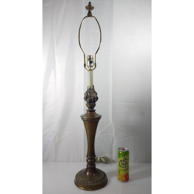 "Stiffel Agean Bronze ""Justice"" Table Lamp - Image 8 of 10"
