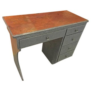Steampunk-Style Metallic Finish Desk