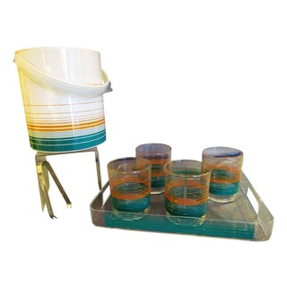 Lucite Beverage Set - Set of 7