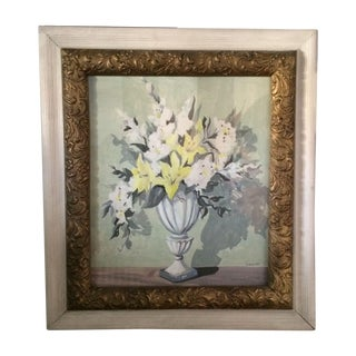 Original Framed Flora Painting by Schmidt