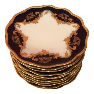 Cobalt Limoges Plates - Set of 12