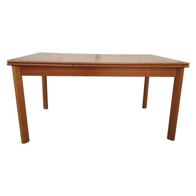 Image of BRDR Furbo Danish Modern Teak Draw Leaf Table