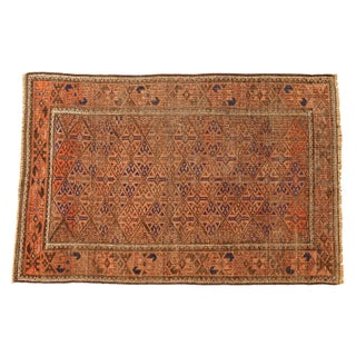 "Vintage Distressed Belouch Rug - 2'7"" x 4'"