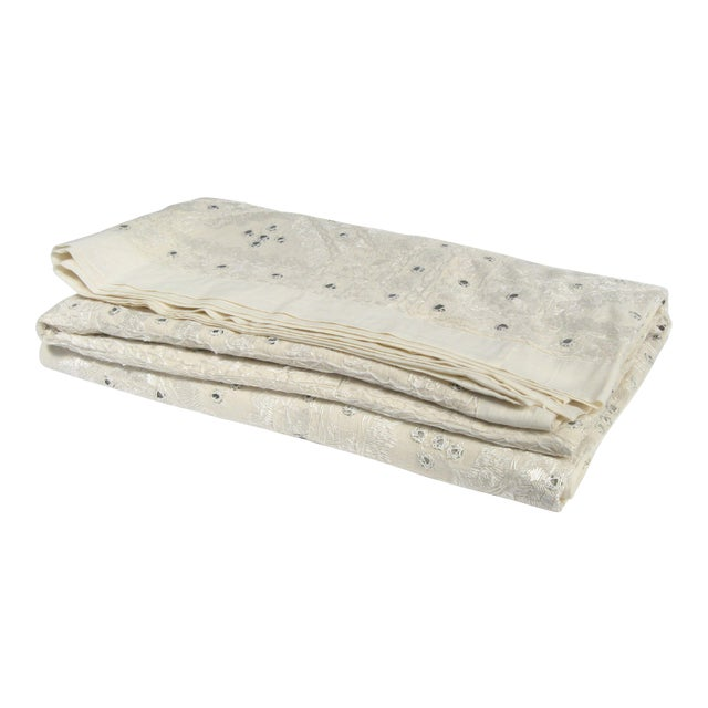Indian Mirrored Cotton Coverlet - Image 1 of 8