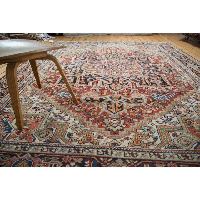 "Traditional Vintage Heriz Carpet - 8'2"" X 10'4"" - Image 7 of 10"