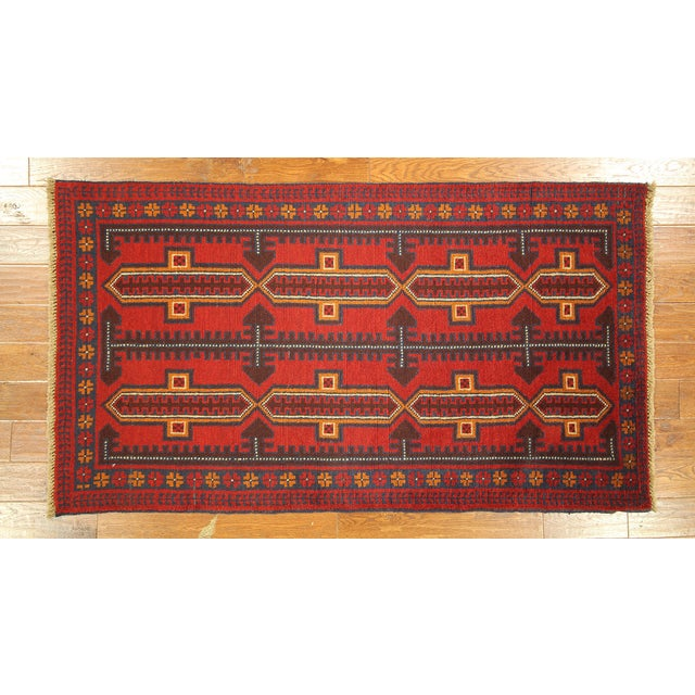 """Persian Balouch Hand Made Wool Rug - 3'5"""" x 6'4"""" - Image 2 of 3"""