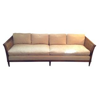 Vintage Reupholstered Henredon Cane Sofa