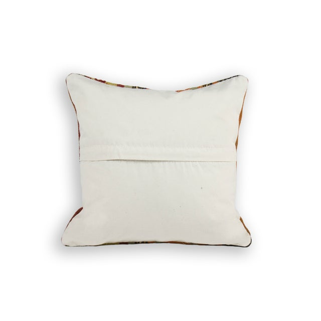 Hand Embroidery Over Hand-Loomed Pillows - a Pair - Image 2 of 2