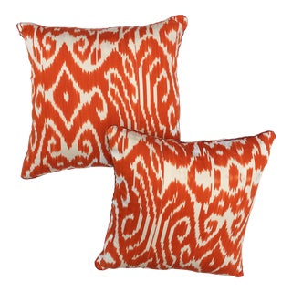 Madeline Weinrib Ikat Pillows - A Pair