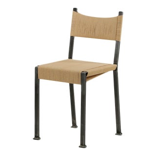 21st Century American Industrial Style Handmade Tumbled Steel Side Chair
