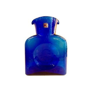Blenko Cobalt Blue Vase or Carafe