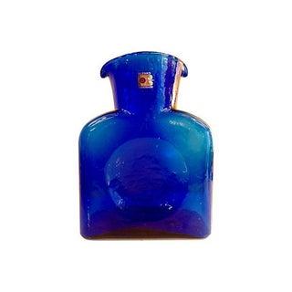 Blenko Cobalt Blue Vase or Carafe