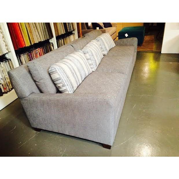 Huntington House Grey and Striped Sofa - Image 4 of 6