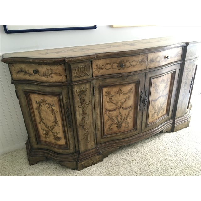Hooker Furniture Hand Painted Buffet - Image 6 of 9