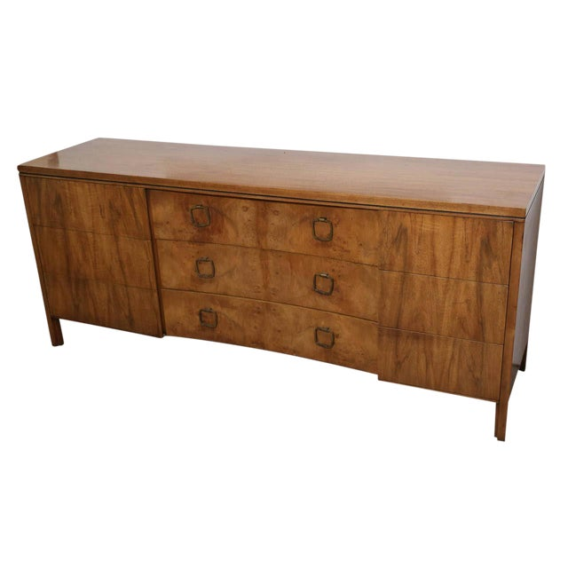 John Stuart for Widdicomb Walnut Dresser with Brass Pulls - Image 1 of 8