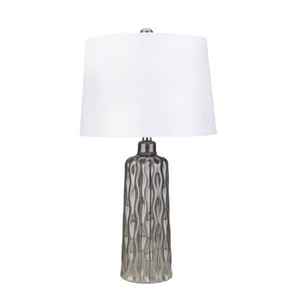 Mid-Century Inspired Gray Table Lamp