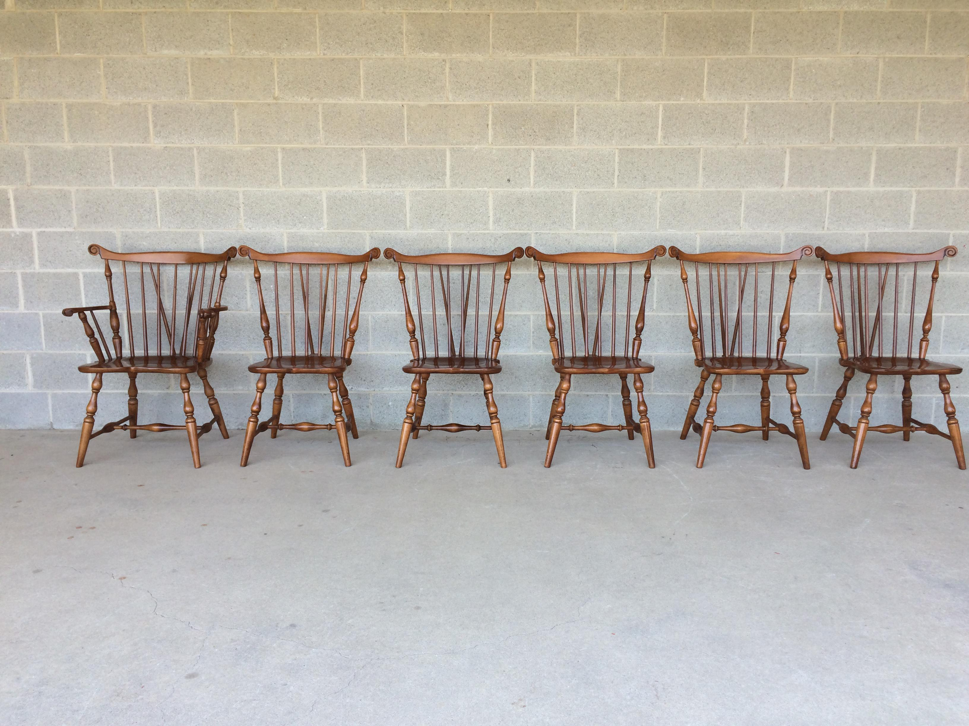 Tell City Maple Windsor Brace Back Dining Chairs   Set Of 6   Image 2 Of Part 98